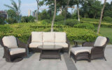 6 Pieces Round Wicker Sofa Set Garden Furniture 0300 10mm Half Moon Curve Flat Wicker and 5mm Round Wicker