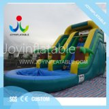 Small Inflatable Slide Water Game with Swimming Pool