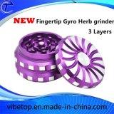 Newest Fingertip Gyro Herb/Weed Grinder Herb Smoking Accessory Tobacco