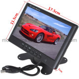 Montronics Factory Directly Selling AV CCTV Ahd TFT 7 Inch Car Back Seat Headrest Monitor
