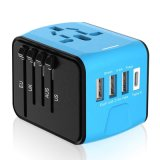 Mobile Phone Accessory Portable Multi 4 USB Port Universal Fast Travel Adapter Charger with EU Au Us UK Plug All in One Power Adapter Socket