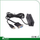 3 Track Programmable Mini Card Reader to Support Magnetic Card, with USB or Serial