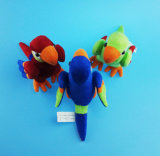 Stuffed Brazilian Macaw Toy with Three Colors