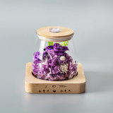 Factory Handmade Preserved Flower Gift with Light for Decoration