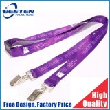 Custom Cheap Price Polyester Silkscreen Sublimation Woven Lanyard for Promoation Gift