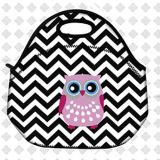 Owl Pattern Thermal Insulated Picnic Lunch Bags Kids School Lunch Box Container Bag