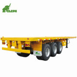 3 Axles 40FT Container Transport Platform Flatbed Semi Trailer