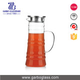 1330ml Bamboo Design Borosilicate Glass Pitcher with Stainless Steel Lid