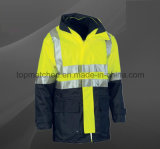 High Quality Reflective Polyester Waterproof Men′s Safety Jacket Workwear