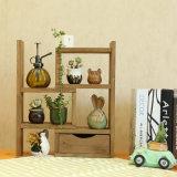 Wooden Cosmetic Shelf Desktop Dormitory Office Flower Rack Storage Cup Holder