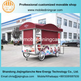 Four Wheels Food Cart/Food Van with Ce for Sale