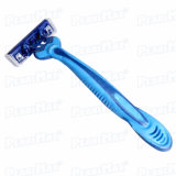 Men Blue Color Fashion Changeable Blade Razor