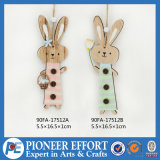 Wooden Decoration Wall Hanging for Easter with Bunny Design