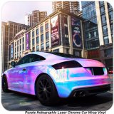 Tsautop 1.52*20m Purple Rainbow Holographic Laser Chrome Car Sticker Vinyl