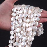 12-13mm Coin Shape Freshwater Pearl Strand