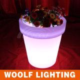 Crystal Resin Glow Flower Pot LED Light Hotel Decor