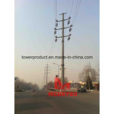 110kv Double Circuit Angle Tension Pole (5°)