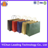 Colorful Kraft Paper Shopping Handle Fashion Bag for Clothes Packaging