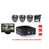 4 Image 3G/4G Hard Disk Mobile DVR with 4PCS Camera for Car Monitoring