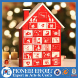 Wooden Advent Calendars Decoration with Small House Design for Christmas Decoration