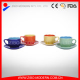 Wholesale 2-Tone Colors Cup & Saucer