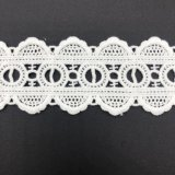 High Quality Nylon and Cotton Fabric Milk Silk Dresses Guipure 3D Chemical Lace