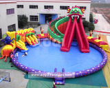 2019 New Design Water Park Water Slide Inflatable Slide