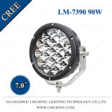 Lmusonu 10-30V DC Offroad 7 Inch Spot/Flood CREE 18PCS*5W 90W LED Working Lamp