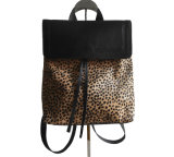 Leopard Luxury Cowhide Leather Backpack Wholesale Handbag Women Backpack