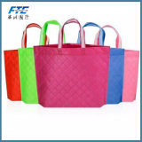 Printed Insulated Color Handle Bag Non Woven W-Cut Bag