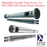 Bimetallic Parallel Twin Screw for PVC/WPC/PE Wood Plastic Machine