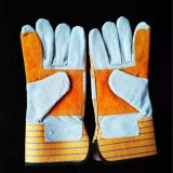 Industrial Safety Working Cow Split Leather Gloves