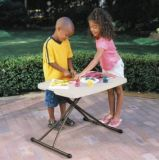Adjustable Plastic Child Study Folding Table