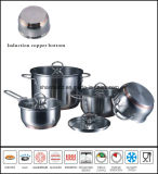 Stainless Steel Impact Copper Bottom Kitchenware Set Cookware