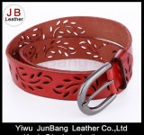 Fashion Punching Genuine Leather Jean Belt for Ladies