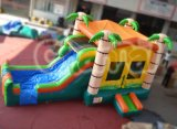 Palm Tree House Inflatable Bouncer Combo (chb527)