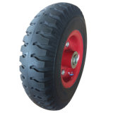 Good Price 3.00-4 Solid PU Foam Trolley Wheel for Tool Cart