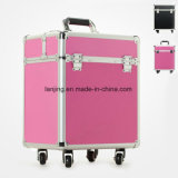 Bw1-168 ABS/PC Luggage Set Cosmetics Makeup Trolley Luggage Bag Case
