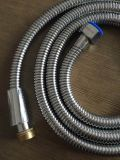 Stainless Steel Anti Twist Double Lock Shower Hose, 2mlength, EPDM, Brass Nut, Chromed, Acs Certificate