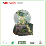 Polyresin Hand-Painted Sea Turtle Snow Globe for Home Decoration and Promotional Gifts, Customized Your Own Water Globe Tourist Crafts