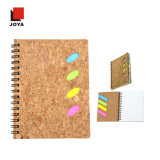 2017 Good Quality Hot New Promotional Recycled Spiral Notebook with Cork Material