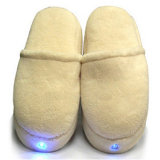 Cordless Electric LED Light Feet Massage Slippers Travel Battery Operated Vibration Foot Massage Shoes