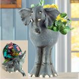 Polyresin Elephant Flower Pot Sculpture Craft Home Decoration