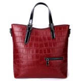 2018 Top Quality Crocodile Cow Leather Handbag for Women