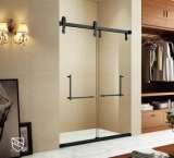 Luxury Cupc Certified Black Matte Bypass Shower Enclosure for North America