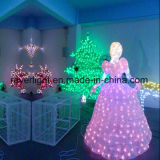 Outdoor Theme Park Lighting Cinderalla Motif Princess Christmas Decoration