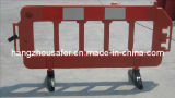 Plastic Road Traffic Barrier with 360 Degree Rubber Base