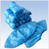 Water Resistant Disposable Plastic Shoe Covers Non Skid Bottom