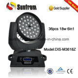 36PCS X 18W Zoom LED Moving Head Wash DJ Equipment Disco Light