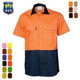 Wholesale Short Sleeve Anti-Static Reflective Tape Work Shirts